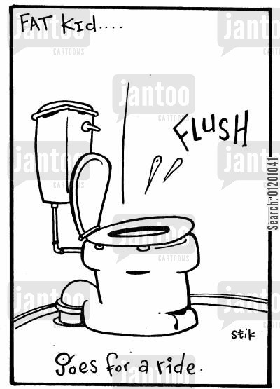 toilet training cartoon humor: Fat Kid 13- Goes for a ride