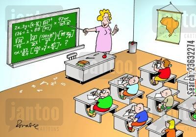 primary school cartoon humor: Classroom.