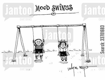 change in moods cartoon humor: Mood Swings.