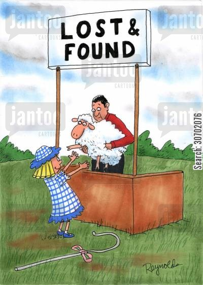 lost found cartoon humor: Lost and Found.