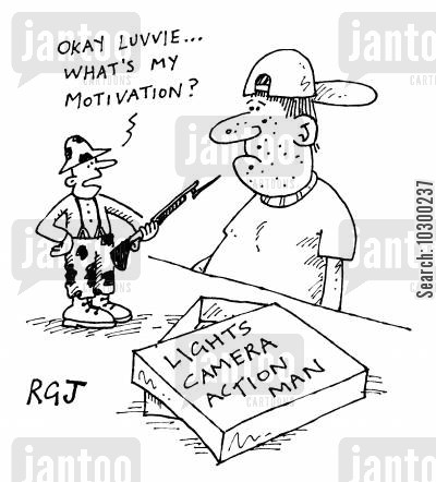 action man cartoon humor: What's my motivation