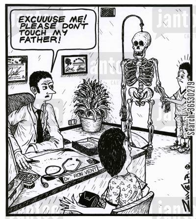 reprimand cartoon humor: 'Excuuuse me! Please don't touch my Father!'