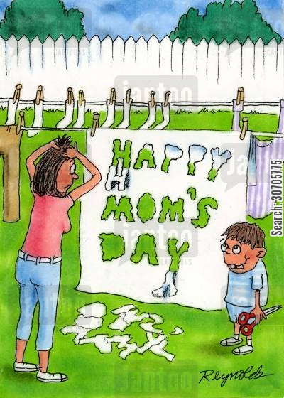 family celebrations cartoon humor: Happy Mom's Day.
