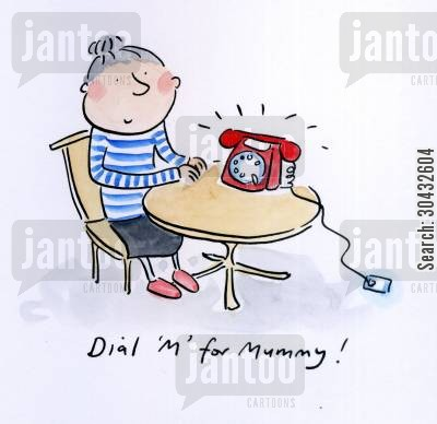 dial m for murder cartoon humor: Dial M for Mummy.
