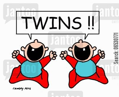 give birth cartoon humor: Twins!