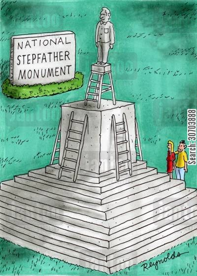 stepladder cartoon humor: National stepfather monument