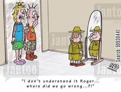 do your best cartoon humor: 'I don't understand it Sid... where did we go wrong?!'