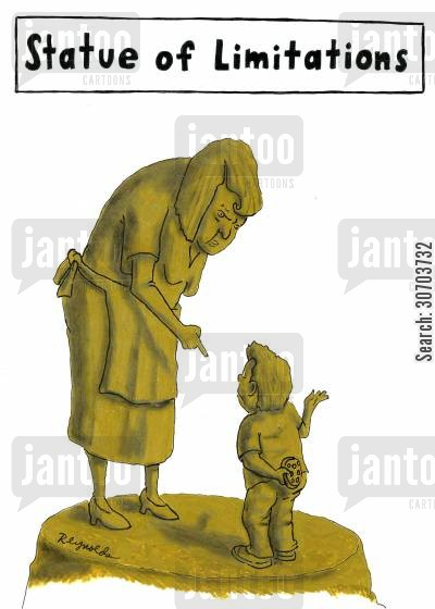 ground rules cartoon humor: Statue of Limitations.