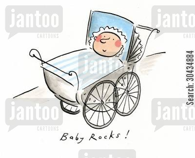 rocking cartoon humor: Baby rocks!