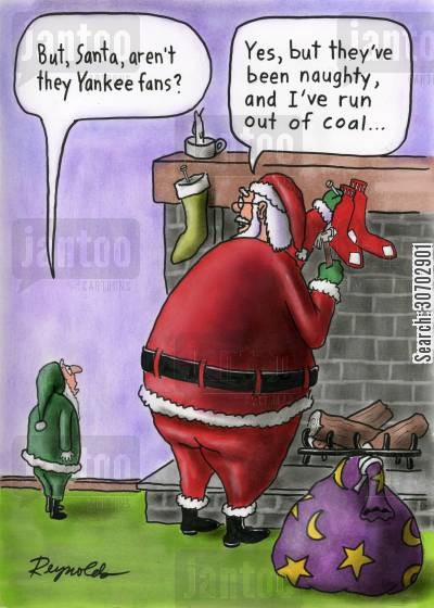 santas little helper cartoon humor: Santa claus