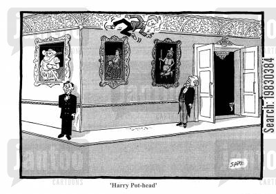 prince charles cartoon humor: 'Harry Pot-head.'