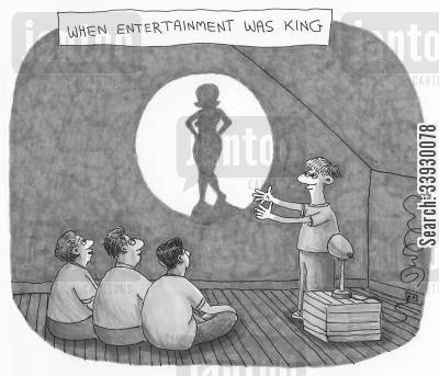 adolescents cartoon humor: When Entertainment Was King.