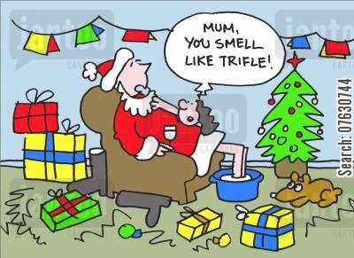 trifle cartoon humor: Mum, you smell like trifle!