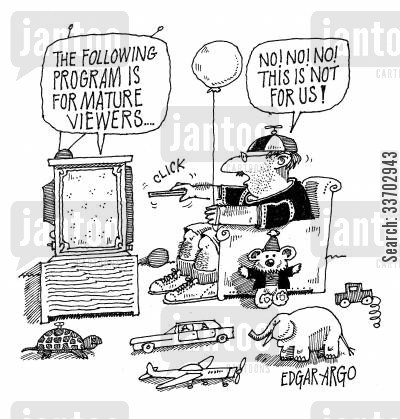 mature viewer cartoon humor: The following Program is for mature viewers.