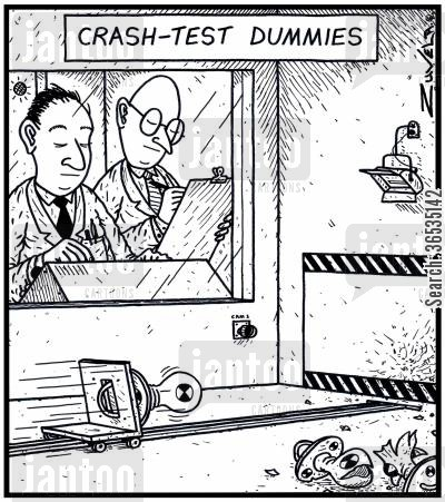 inspections cartoon humor: Crash-Test Dummies