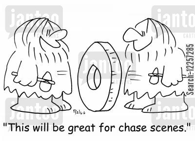 car chases cartoon humor: 'This will be great for chase scenes.'