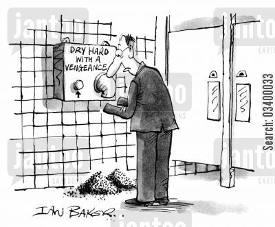 hand dryer cartoon humor: Dry Hard with a Vengeance