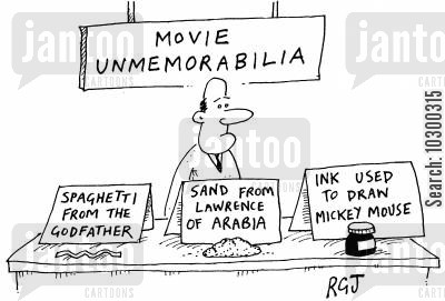 the godfather cartoon humor: 'Movie unmemorabilia' 'Sand from Lawrence of Arabia' etc'