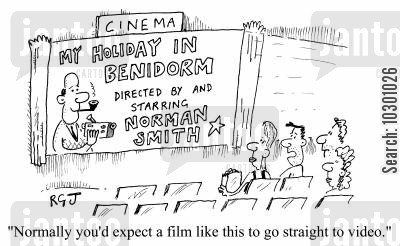 amateurs cartoon humor: Normally you'd expect a film like this to go straight to video.