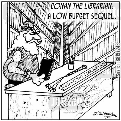 spin offs cartoon humor: Conan the Librarian: A Low Budget Sequel.