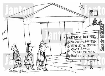 court house cartoon humor: Courthouse Muliplex.