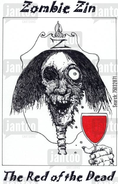 horror movies cartoon humor: Zombie Zin: The Red of the Dead