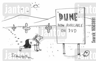 dune cartoon humor: 'Dune' - Now available on DVD.