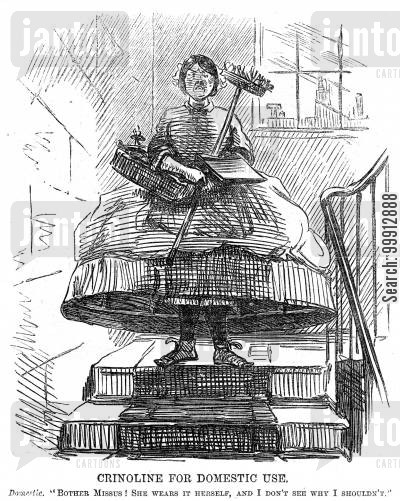 dresses cartoon humor: Crinoline for Domestic Use