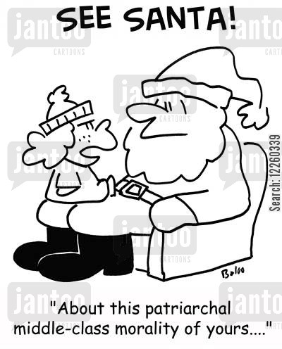 patriarchal cartoon humor: 'About this patriarchal middle-class morality of yours....'
