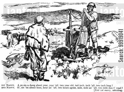 victorian labourer cartoon humor: Navvy