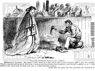 victorian labourer cartoon humor: Second Person Singular