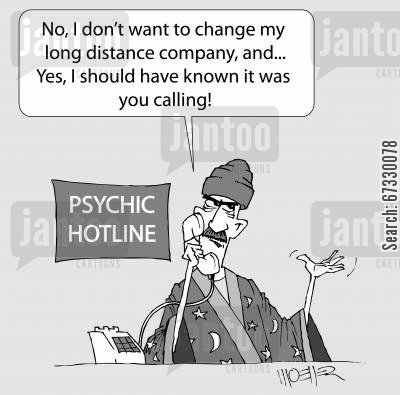long distance cartoon humor: 'No, I don't want to change my long distance phone company, and,,, Yes, I should have known it was you calling'