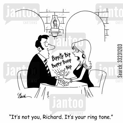 couples cartoon humor: 'It's not you, Richard. It's your ring tone.'