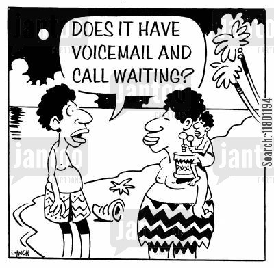 functions cartoon humor: Does it have Voicemail and Call Waiting?