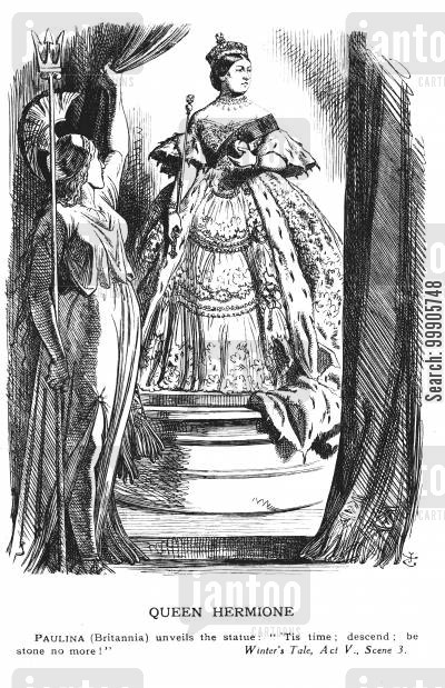 mourn cartoon humor: Queen Hermione - Queen Victoria Urged To Stop Mourning and Return to Public Life