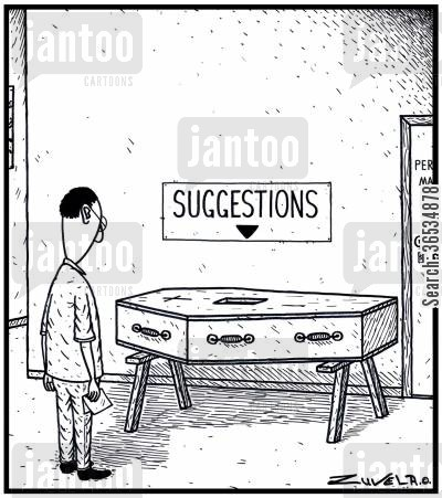 personnel manager cartoon humor: Suggestions Coffin
