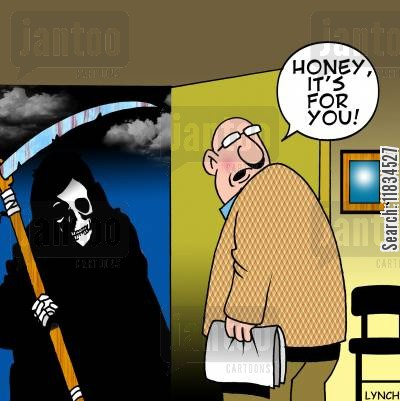 doorbell cartoon humor: 'Honey, its for you.'