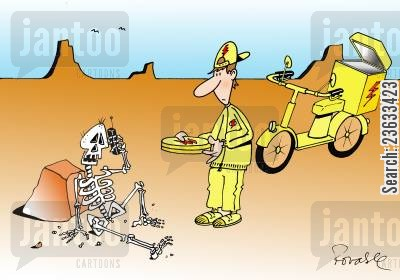 pizza deliveries cartoon humor: Pizza Delivery Delays