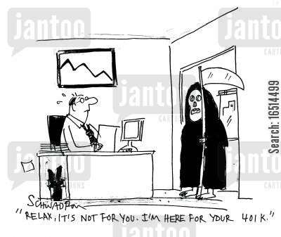 scariness cartoon humor: 'Relax, it's not for you. I'm here for your Yoik.'