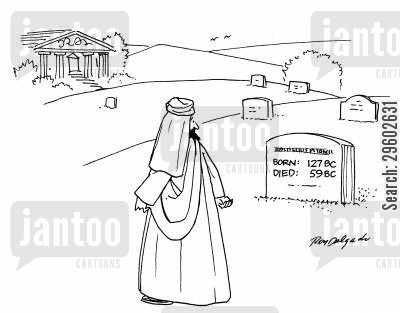 countdown cartoon humor: Born: 127 BC, Died: 59 BC.