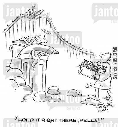smuggling cartoon humor: 'Hold it right there, fella!'