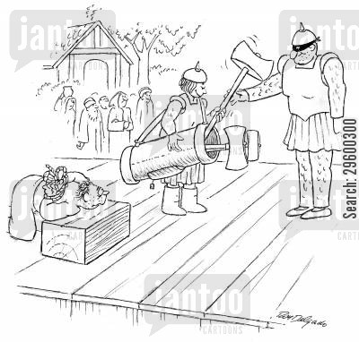 golf caddies cartoon humor: Execution