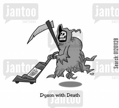 dysons cartoon humor: Dyson with Death