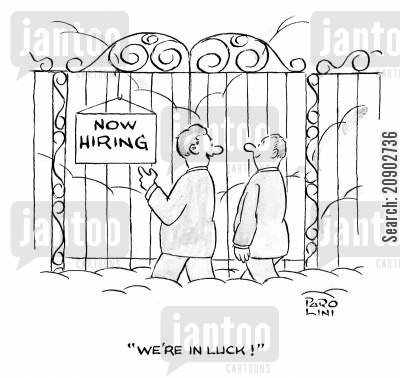 now hiring cartoon humor: Sign on the Pearly Gates: Now Hiring.