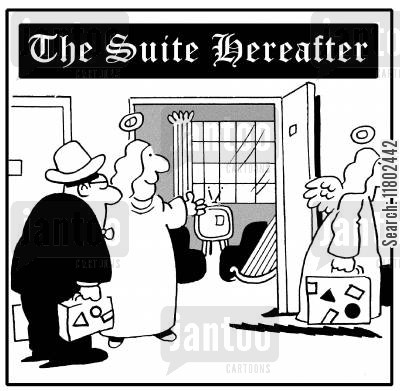 suite cartoon humor: The suite hereafter.
