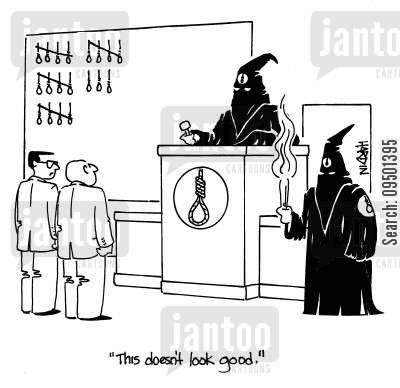 cults cartoon humor: 'This doesn't look good.'