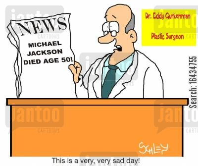 breakign news cartoon humor: 'This is a very, very sad day!'