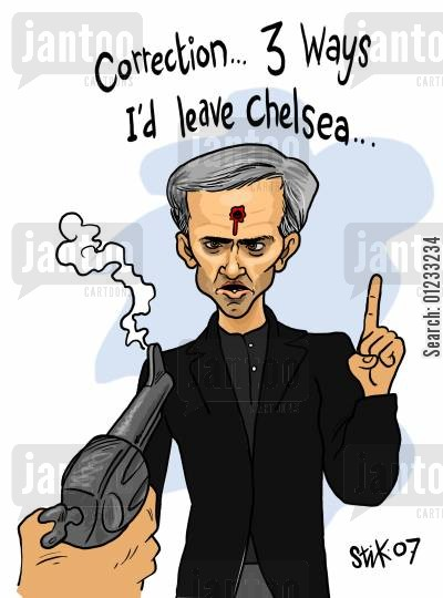 chelsea fc cartoon humor: 'Correction...3 ways I'd leave Chelsea...'