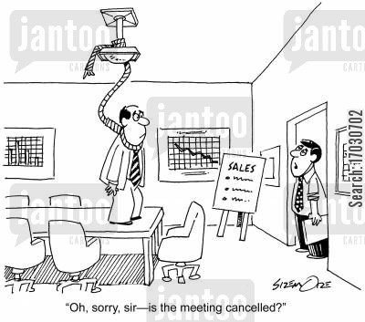 conference room cartoon humor: 'Oh, sorry, sir