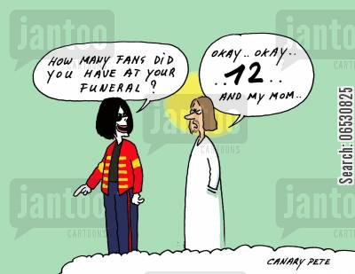 jesus christ cartoon humor: Fans at Michael Jackson's funeral.